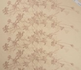 Orchid embroidery piel