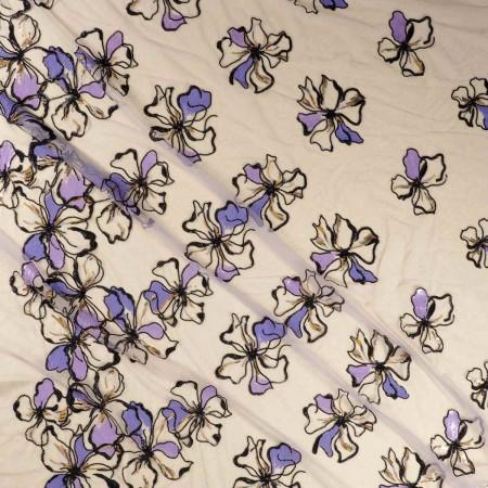 Lilac bordado molino de viento