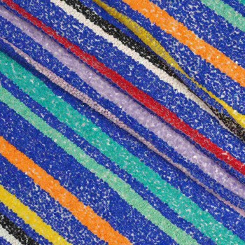 Rainbow sequins multicolor azul