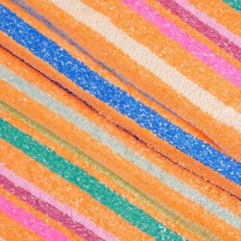Rainbow sequins multicolor naranja
