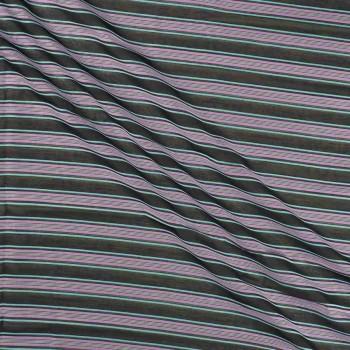 Jacquard rayas lila turquesa