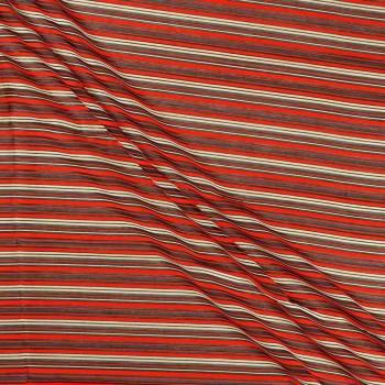 Jacquard rayas rojo