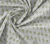 Jacquard libelula elastico verde