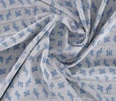 Jacquard libelula elastico azul