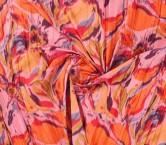 TafetÁn estampado plisado rosa