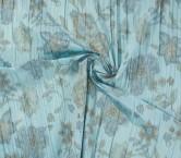 TafetÁn estampado plisado turquesa