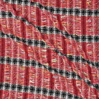 Red jacquard chanel raya