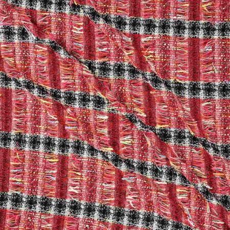 Jacquard chanel raya rojo