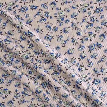 Jacquard flor gofrado rosa azul verde