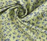 Jacquard flor gofrado verde azul