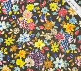 Georgette estampado flor multicolor