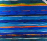Mikado estampado rayas azul verde