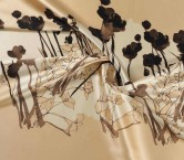 Beige brown estampado flor 584 111cm