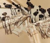 Mikado estampado pano 111cm beige marron