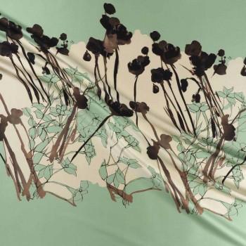 Green water estampado flor 584