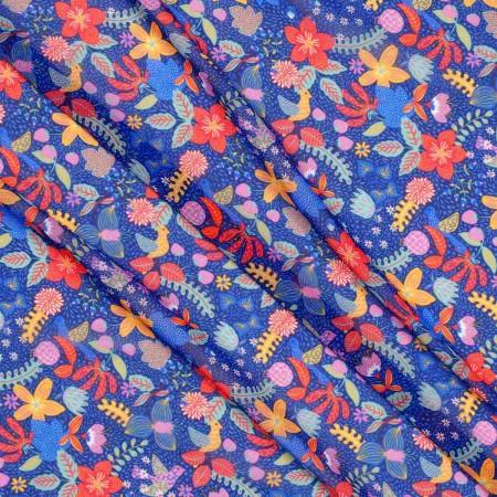 Georgette estampado multicolor