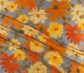 Mikado estampado flor naranja