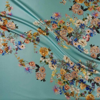 Light turquoise estampado flor