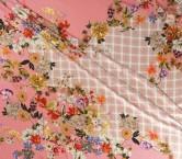Estampado flor pano 140cm rosa