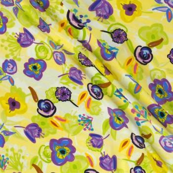 Lime violet estampado flor ped