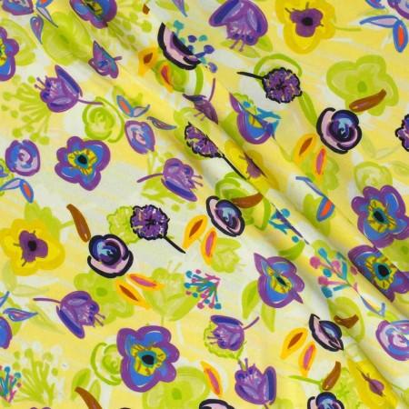 Estampado flor pedro lima violeta