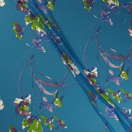 Blue estampado flor george