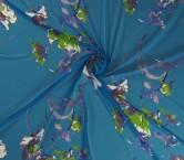 Georgette estampado flor azul