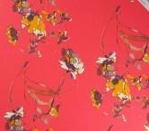 Georgette estampado flor fuxia