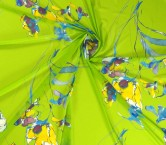 Georgette estampado flor verde