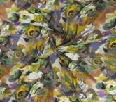 Blue violet estampado flor geo