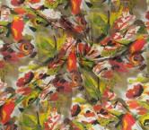 Fuxia green estampado flor geo