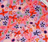 SatÉn crespo estampado flor lila