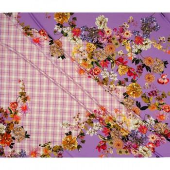 Lilac estampado flor ale pano