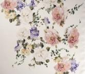 Estampado flor organza 102 fuxia lila