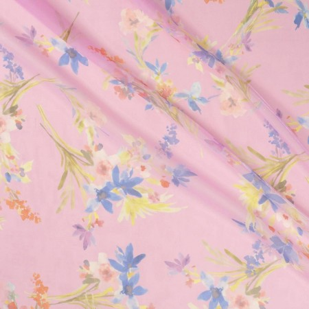 Estampado gloss flor rosa