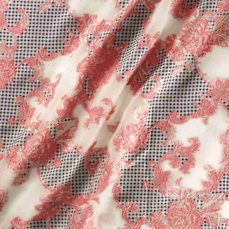 Jacquard organza rosa