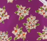 Mikado estampado flores violeta