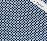 SatÉn mini polka dot azul