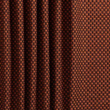Orange jacquard lurex