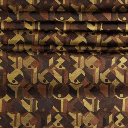 Brown jacquard