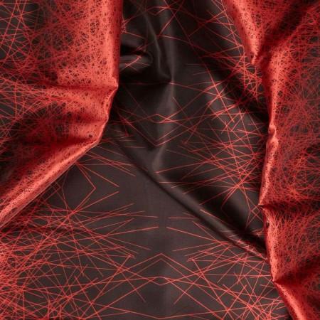 Mikado estampado rojo