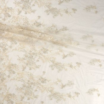 Bordado almond flower ivory