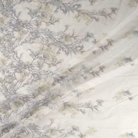 Bordado almond flower gris plata