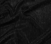 Black/black arrugado lame