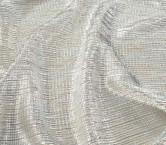 Beige/silver arrugado lame