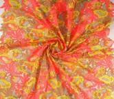 Lime pink bordado multicolor