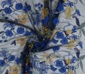 Navy bordado floral