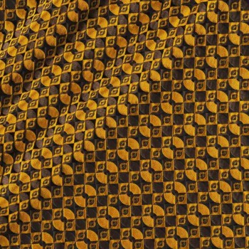 Jacquard geoemtrico ocre