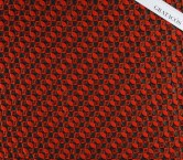 Red brown jacquard geoemtrico
