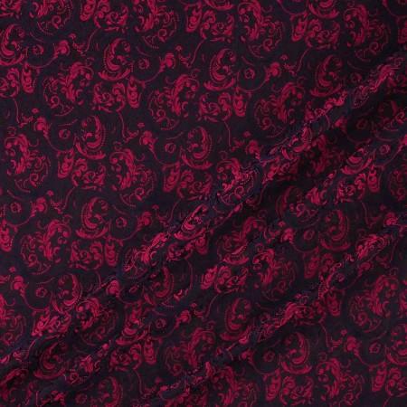 Jacquard ornamental fuxia violeta